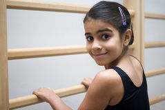 Smiling ballet student Stock Images