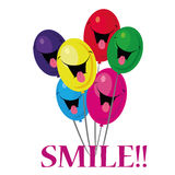 Smiling balloons Royalty Free Stock Photo