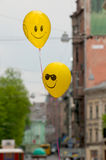 Smiling balloons royalty free stock photography