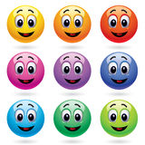 Smiling balls Stock Image