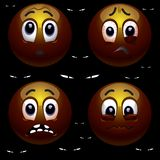 Smiling balls. Are afraid of the dark Royalty Free Stock Images
