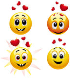 Smiling balls. Falling in love Royalty Free Stock Images