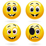 Smiling balls Royalty Free Stock Photos
