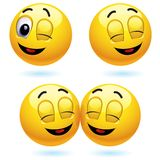 Smiling balls. Smiling ball winking and blinking Stock Images