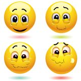 Smiling balls Royalty Free Stock Image