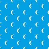 Smiling banana pattern seamless blue. Smiling banana pattern repeat seamless in blue color for any design. Vector geometric illustration Royalty Free Stock Image