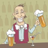 Smiling barman Stock Photo