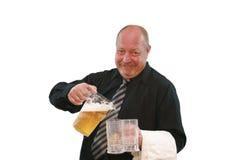 Smiling Bartender Stock Image
