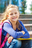 Smiling basic school student Stock Photos