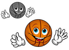 Smiling basketball ball Royalty Free Stock Image