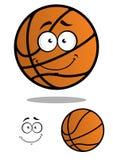 Smiling basketball ball cartoon mascot Royalty Free Stock Images