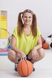 Smiling basketball player Royalty Free Stock Photography