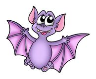 Smiling bat. Color illustration of smiling bat Stock Photo