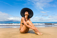 Smiling beach Stock Images
