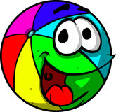 Smiling beach ball Stock Images
