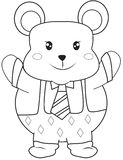 Smiling bear coloring page Royalty Free Stock Photo