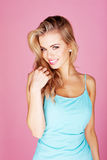 Smiling beautiful blond Royalty Free Stock Images