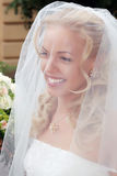 Smiling beautiful bride Stock Image