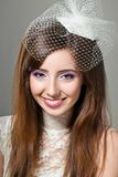 Smiling beautiful bride with make-up Royalty Free Stock Image
