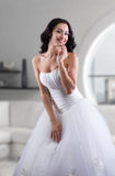 Indoors bridal portrait Stock Image