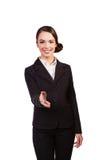 Smiling beautiful businesswoman offering handshake Royalty Free Stock Photos