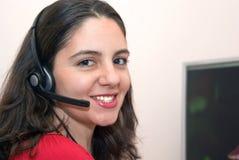 Smiling beautiful employee Stock Photography