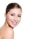 Smiling beautiful face of attractive woman Royalty Free Stock Photos