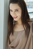 Smiling beautiful female model Royalty Free Stock Images