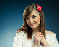 Smiling beautiful girl Royalty Free Stock Photography