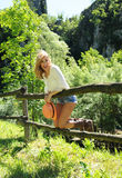 Smiling Beautiful Girl Have Fun At The Countryside Royalty Free Stock Image