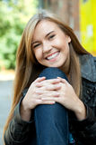 Smiling beautiful girl outdoors Royalty Free Stock Images
