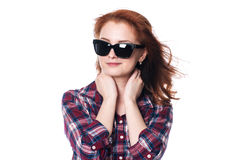 Smiling beautiful girl in sunglasses Stock Photography