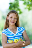 Smiling beautiful teenage Stock Images