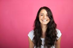 Smiling beautiful woman Stock Photos