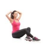 Smiling beautiful woman doing exercise Stock Image