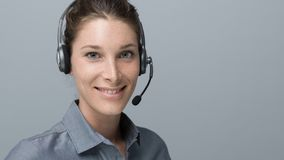 Call center and customer support operator Stock Photo