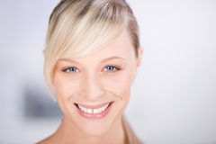 Smiling beautiful woman stock photo