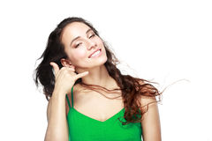 Smiling beautiful woman Stock Photography