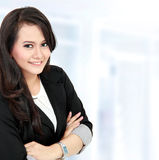 Smiling beautiful young business woman Royalty Free Stock Photos