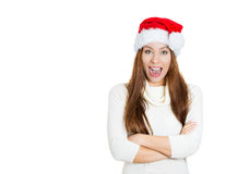 Smiling beautiful young Christmas woman Stock Image