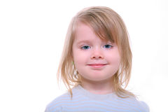 Smiling beautiful young girl. Isolated on white Stock Photos