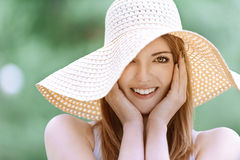Smiling beautiful young woman Royalty Free Stock Images