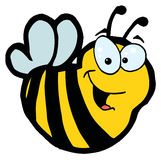 Smiling bee Stock Image
