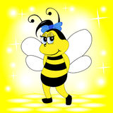 Smiling bee Royalty Free Stock Image