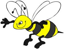Smiling bee Stock Images