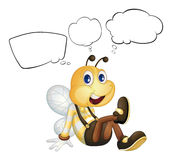 A smiling bee with empty callouts Stock Images