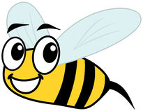 Smiling bee and profile Royalty Free Stock Photography