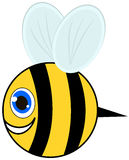 Smiling bee and profile Royalty Free Stock Photos