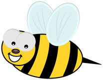 Smiling bee and profile Stock Photos