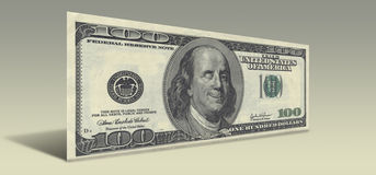 Smiling Ben Franklin. US Hundred Dollar bill with Smiling Winking Ben Franklin stock illustration